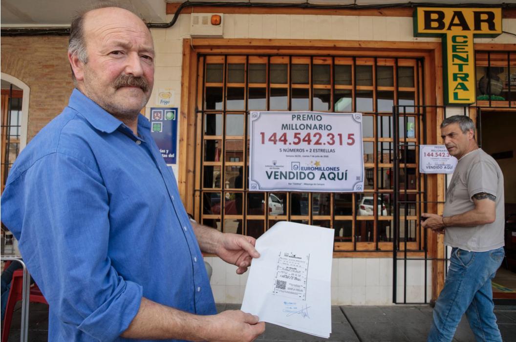 14 vecinos de un pueblo de Valladolid agraciados con El sorteo del Euromillones agraciado