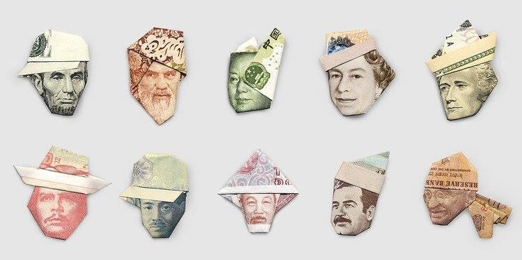 Papiroflexia con billetes